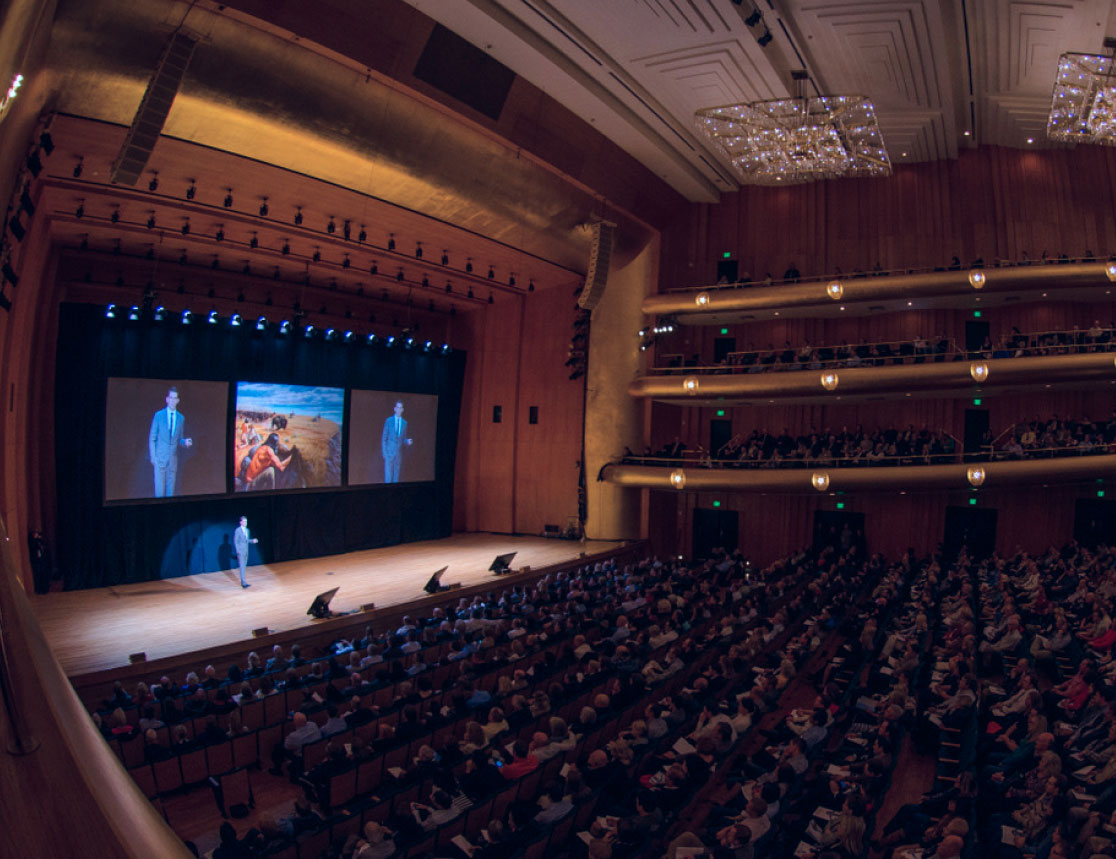 Diversify co-founder Ryan Smith speaks to a sold out crowd at Abravanel Hall